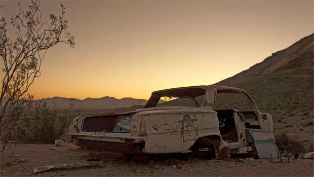 Abandoned car in Rhyolite, NV. Taken 10/2012.